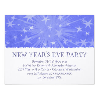 Starry Burst New Year's Eve Party Invitations