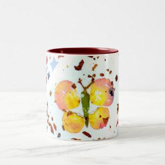 Starry Butterfly -15oz maroon ceramic coffee mug