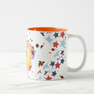 Starry Butterfly -15oz orange ceramic coffee mug