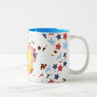 Starry Butterfly -15oz two tone ceramic coffee mug