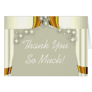Starry canopy Jewish wedding thank you card