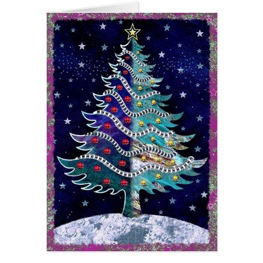 Starry Christmas Card