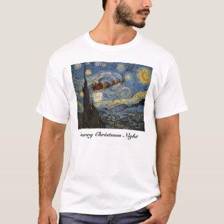 Starry Christmas Night Art T-Shirt