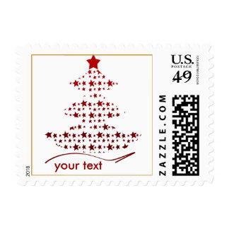 starry Christmas tree Postage Stamp