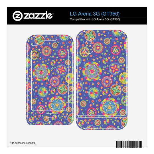 Starry Circles pattern - Disco colors- Decals For LG Arena 3G
