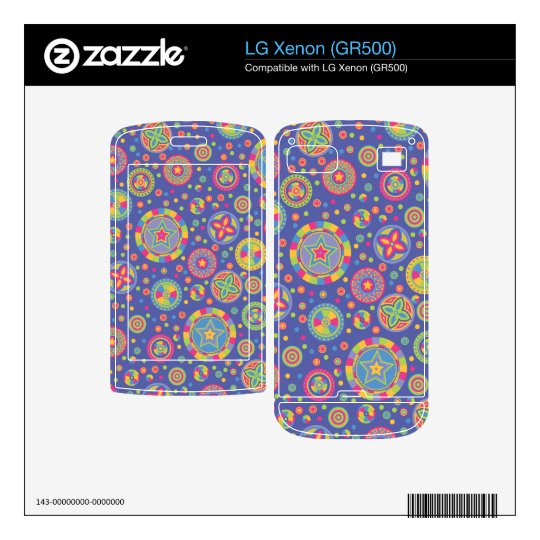 Starry Circles pattern - Disco colors- Skin For The LG Xenon