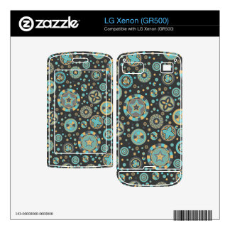 starry Circles pattern -Masculine Mustard Colors- LG Xenon Decals