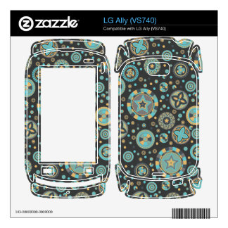 starry Circles pattern -Masculine Mustard Colors- Skins For LG Ally