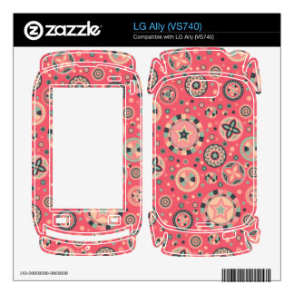 starry Circles pattern -Vintage Candy Colors- Decals For The LG Ally