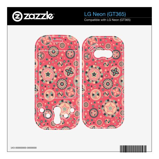 starry Circles pattern -Vintage Candy Colors- LG Neon Decal