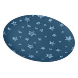 Starry Deep and Light Blue Plate