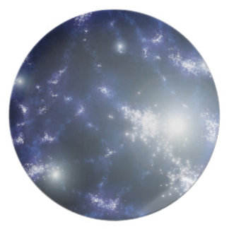 Starry dinner party plate
