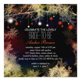Starry Evening Forest Bridal Shower Card