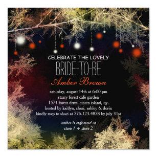 Starry Evening Forest Bridal Shower Invitation