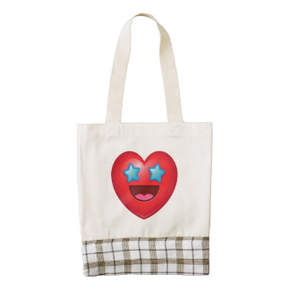 Starry Eye Heart Emoji Zazzle HEART Tote Bag
