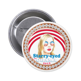 Starry-Eyed for Obama Button