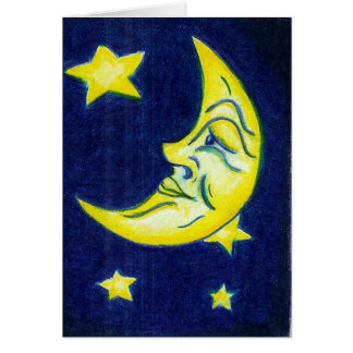 Starry-Eyed Moon Card