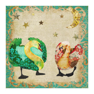 Starry Eyed Swans Canvas