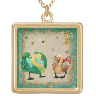 Starry Eyed Swans Necklace