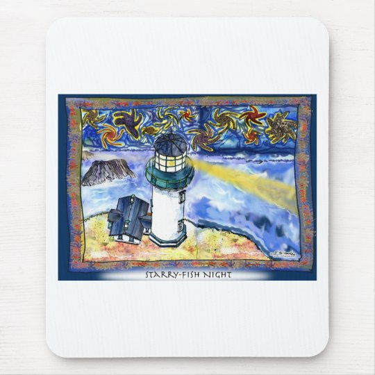 Starry-Fish Night Mouse Pad