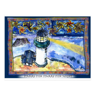 Starry-Fish Starry-Fish Night Postcard