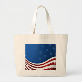 Starry Flag Memorial Day Canvas Bags