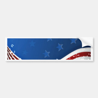 Starry Flag Memorial Day Bumper Stickers