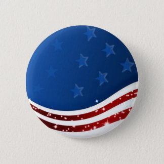 Starry Flag Memorial Day Button