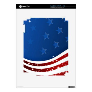 Starry Flag Memorial Day Decals For The iPad 2