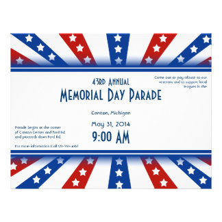 Starry Flag Memorial Day Flyer