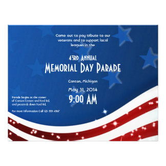 Starry Flag Memorial Day Flyer