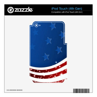Starry Flag Memorial Day iPod Touch 4G Decals