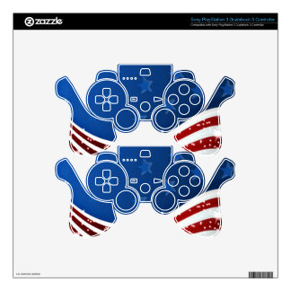 Starry Flag Memorial Day PS3 Controller Decal