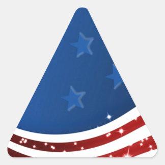 Starry Flag Memorial Day Triangle Sticker