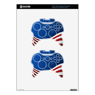 Starry Flag Memorial Day Xbox 360 Controller Skin