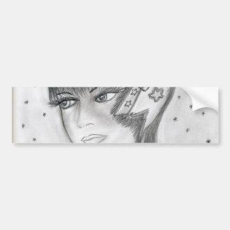 Starry Flapper Bumper Sticker
