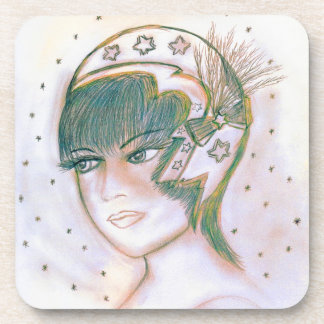 Starry Flapper Twisted Beverage Coaster