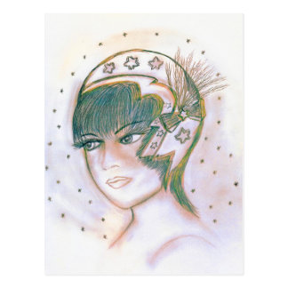 Starry Flapper Twisted Postcard