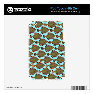 Starry Flounder Pattern in blue iPod Touch 4G Skin