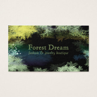 Starry Forest Leaves Professional Business Cards