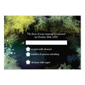 Starry Forest Wonderland Wedding RSVP Card