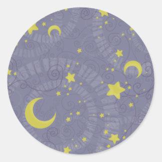Starry Fortune Round Stickers