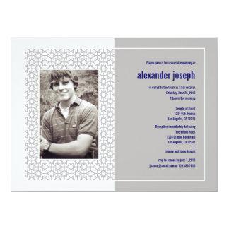 "Starry Frame Bar Mitzvah (Extra Large) Invitation 6.5"" X 8.75"" Invitation Card"