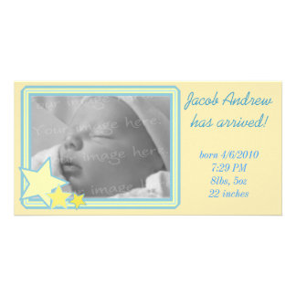 Starry Frame Photo Card Birth Announcement