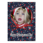Starry Grandparents Day photo card