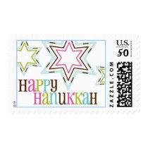 starry hanukkah postage