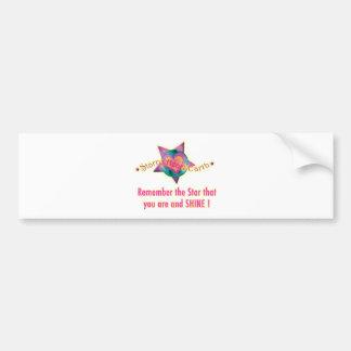 Starry Heart Earth Merchandise Bumper Sticker