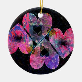 Starry Hearts Ceramic Ornament