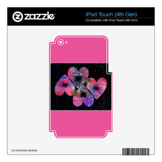 Starry Hearts iPod Touch 4G Skins