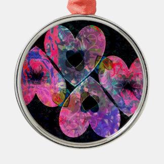 Starry Hearts Metal Ornament